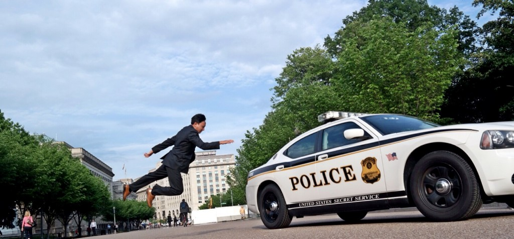Flying Traveler on a mission: Secret Service Levitation
